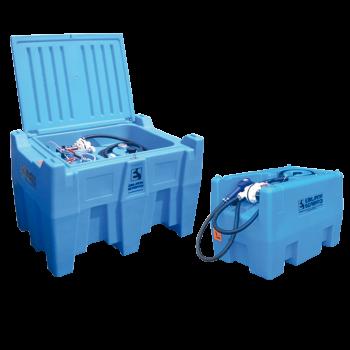 Cuve CARRYBLUE ® de transport AdBlue ® 220L en polyéthylène avec batterie et chargeur intégrés