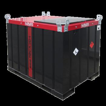 Cuve TANKUBE ® homologuée ADR de transport gasoil 960L en acier double paroi