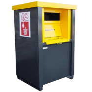 Collecteur de stockage pour huiles minérales 1000L ou 1500L en acier double paroi