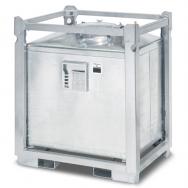 Cuve ASF homologuée ADR de transport pour déchets liquides dangereux 1000L en acier galvanisé double paroi