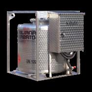 Cuve TRASPO INOX® homologuée ADR de transport essence 330L en acier inoxydable