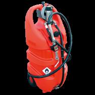 Jerrican EMILCADDY ® de transport d'huile propre 55L ou 110L en polyéthylène avec batterie et chargeur intégrés
