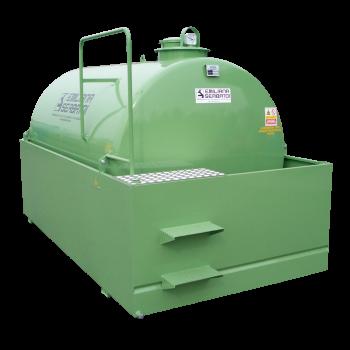 Cuve SE HD OIL® de stockage d'huile usagée 3000L à 9000L en acier avec bac de rétention