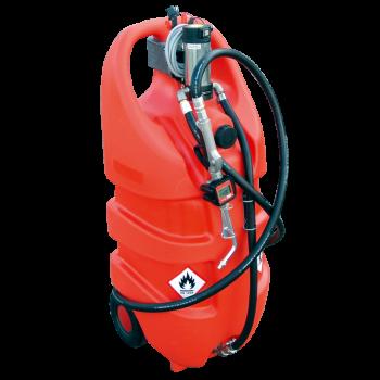 Jerrican EMILCADDY® de transport d'huile propre 55L ou 110L en polyéthylène avec pompe manuelle
