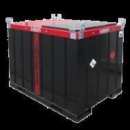 Cuve TANKUBE® homologuée ADR de transport gasoil 960L en acier double paroi