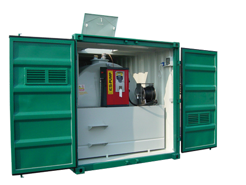 Station mobile pour stockage gasoil, fioul, ....